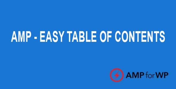 Plugin Amp Easy Table of Contents - WordPress