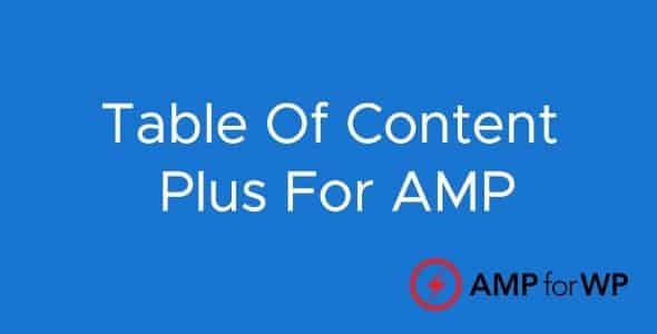 Plugin Amp Table Of Content Plus - WordPress
