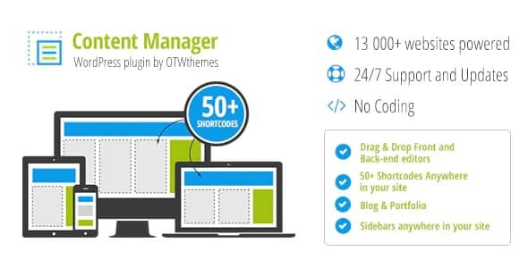 Plugin Content Manager for WordPress