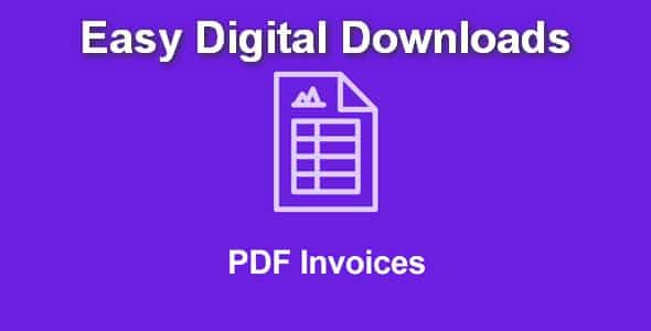 Plugin Easy Digital Downloads Pdf Invoices - WordPress