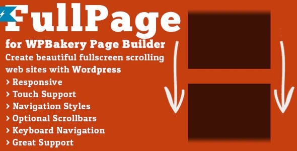 Plugin FullPage for WPBakery Page Builder - WordPress