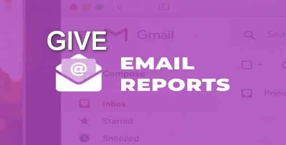 Plugin Give Email Reports - WordPress