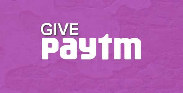 Plugin Give Paytm Gateway - WordPress