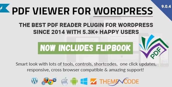 Plugin Pdf viewer for WordPress
