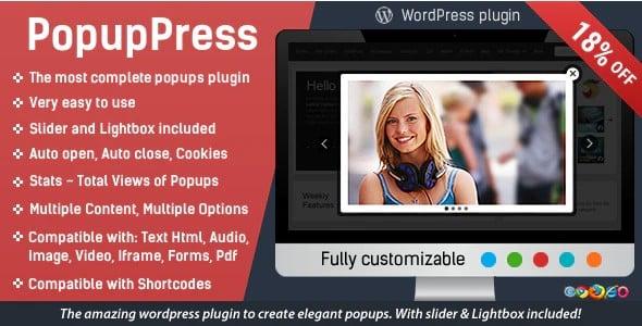 Plugin Popup Press - WordPress