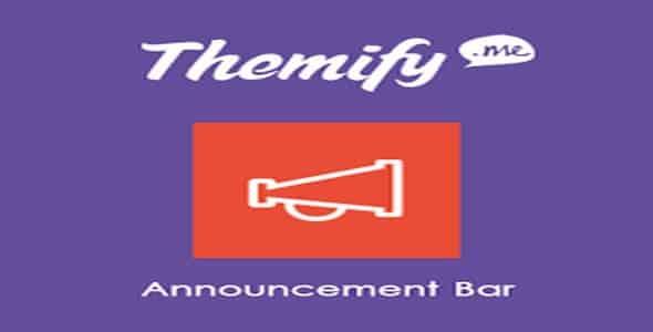 Plugin Themify Announcement Bar - WordPress