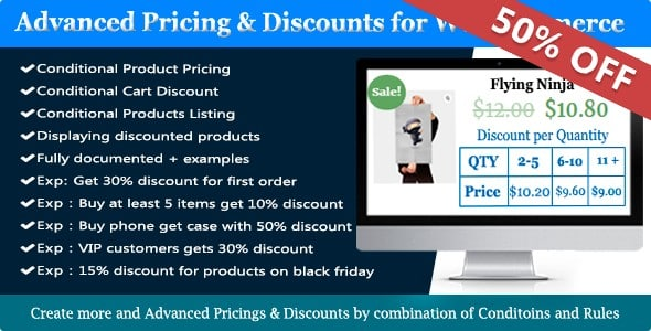 Plugin WooCommerce Dynamic Pricing and Discounts - WordPress