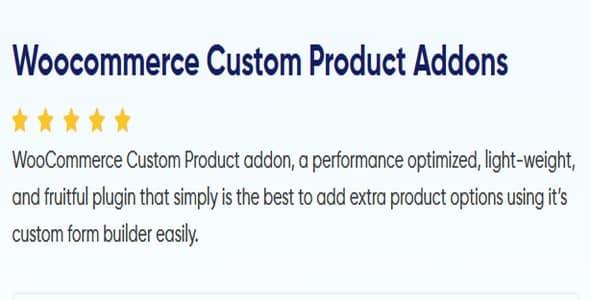 Plugin Woocommerce Custom Product Addons - WordPress