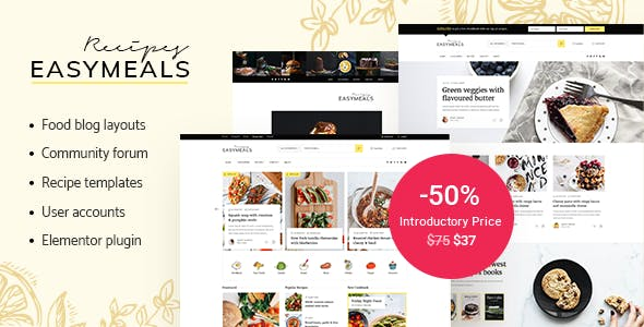 Tema EasyMeals - Template WordPress