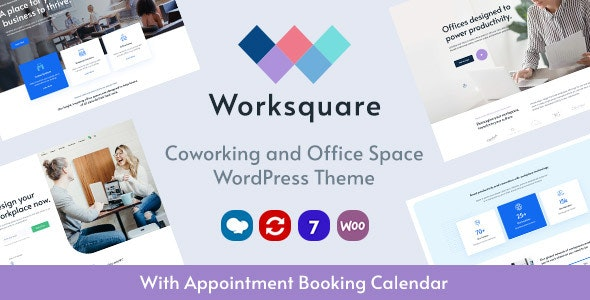 Tema Worksquare - Template WordPress