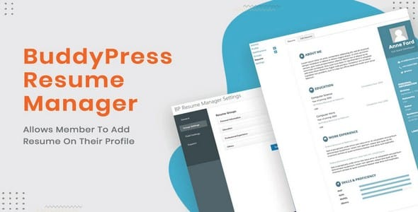 Plugin BuddyPress Resume Manager - WordPress