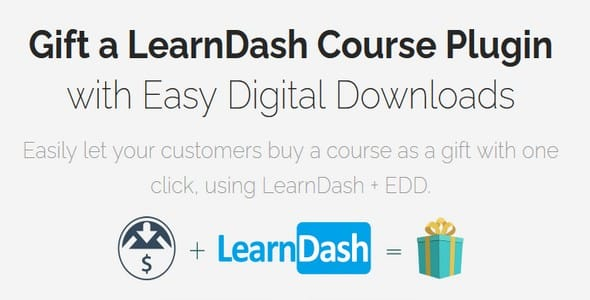 Plugin Easy Digital Downloads Gift LearnDash Courses Addon - WordPress