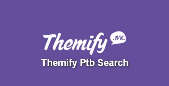 Plugin Themify Ptb Search - WordPress