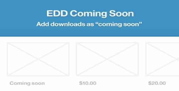 Plugin Easy Digital Downloads Coming Soon - WordPress