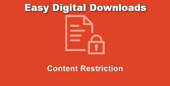 Plugin Easy Digital Downloads Content Restriction - WordPress