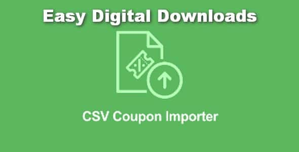 Plugin Easy Digital Downloads Coupon Importer - WordPress