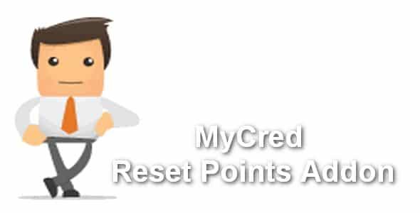 Plugin MyCred Reset Points Addon - WordPress