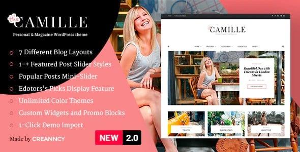 Tema Camille Creanncy - Template WordPress