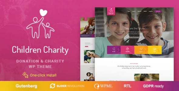 Tema Children Charity - Template WordPress