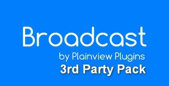 Plugin Broadcast 3rd Party Pack - WordPress
