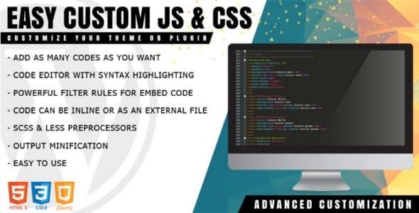 Plugin Easy Custom JS and CSS - WordPress