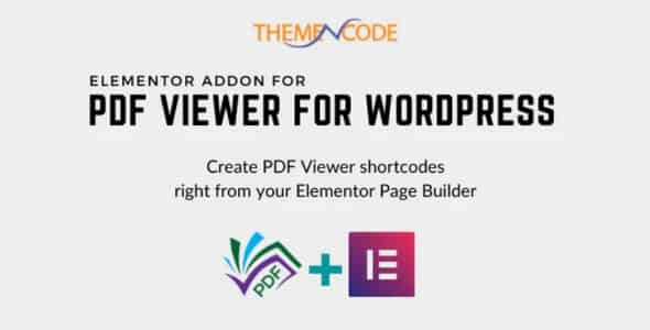 Plugin Elementor Pdf Viewer for WordPress Addon - WordPress