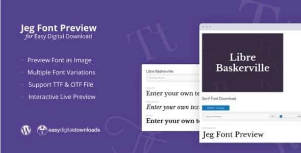 Plugin Jeg Font Preview Easy Digital Downloads - WordPress