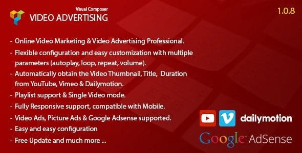 Plugin Video Advertising for Visual Composer - WordPress