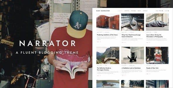 Tema Narrator - Template WordPress