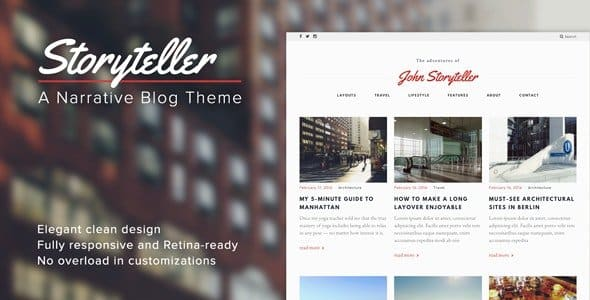 Tema Storyteller - Template WordPress