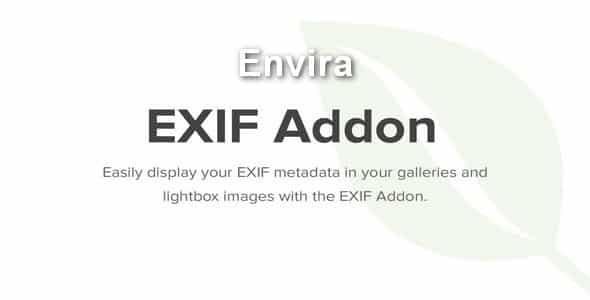 Plugin Envira Exif Addon - WordPress