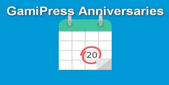 Plugin Gamipress Anniversaries - WordPress