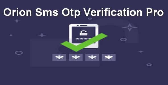 Plugin Orion Sms Otp Verification Pro - WordPress