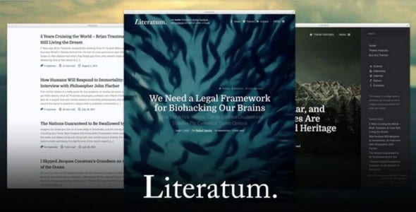 Tema Literatum - Template WordPress